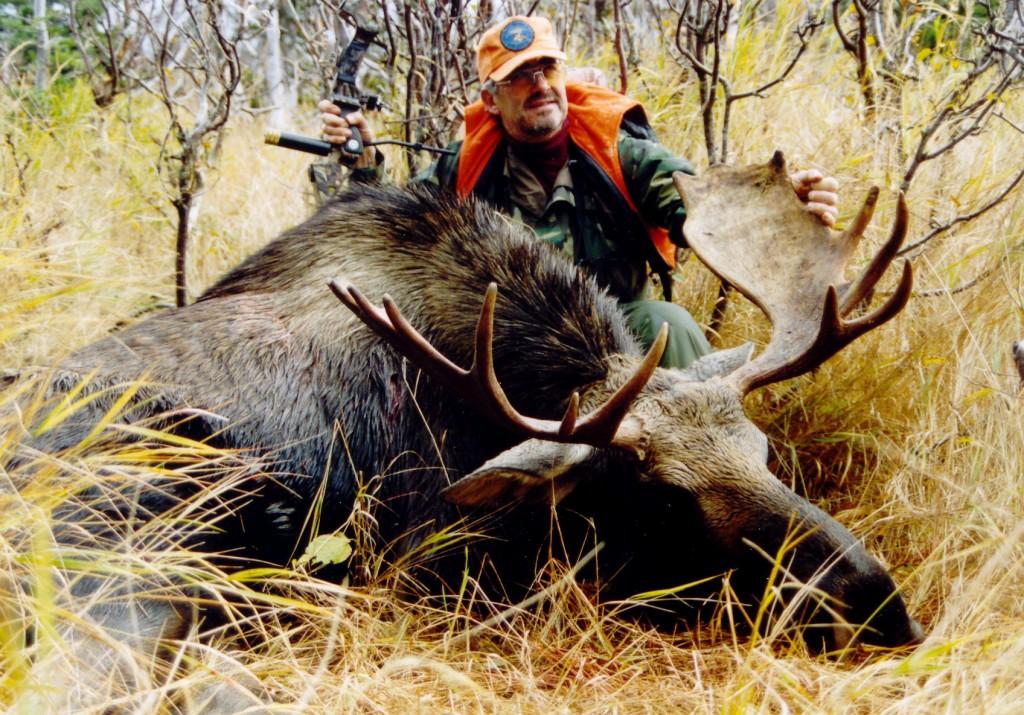Alex Gouthro with Taken Down Moose