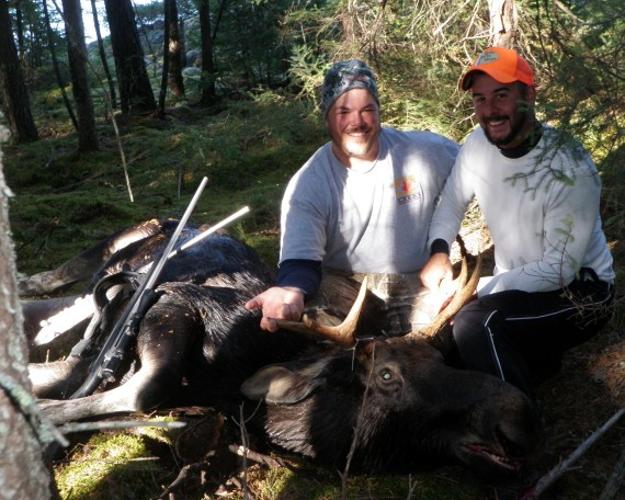 Pit Turenne & Patrick Trudel With 2014 Bull